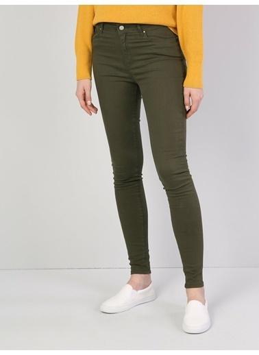 Colin's Süper Slim Fit Kadın Pantolon Haki